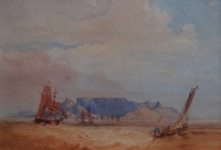 Ships in Table Bay by Bowler, Thomas William