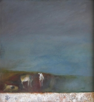 Landscape with cows by Catlin, Gail