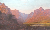 Stream through the mountains by de Jongh, Tinus (Marthinus Johannes)