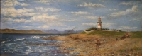 Mouille Point lighthouse towards harbour by Gray, Alfred