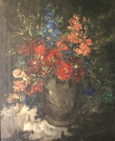 Vase with flowers by Oerder, Frans David