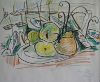 View of harbour - fruit bowl by Stern, Irma