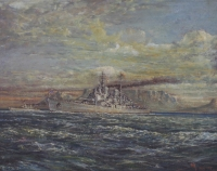 Ship - Vanguard in Table Bay by Cox, Frederik
