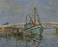A trawler in veldrif harbour by McCaw, Terence John
