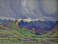 Landscape with clouds by Pierneef, Jacob Hendrik