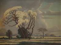 Acacias in bloom by Pierneef, Jacob Hendrik
