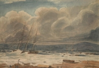 Series of watercolours covering the Cape of Good Hope - three by Pink, Edmund