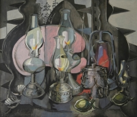 A still life with lamps by Preller, Alexis