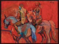 Nude Horse Riders by Pinker, Stanley