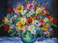 Still life flower bowl by Batha, Gerhard