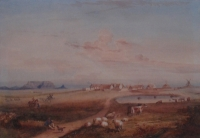 A Cape Dutch farmstead in the Malmesbury area by Bowler, Thomas William