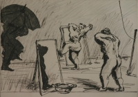 Preparing for the day by Kentridge, William