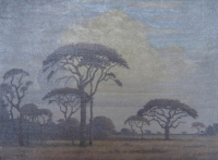 A winter bushveld landscape by Pierneef, Jacob Hendrik