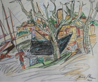 Boats in harbour by Stern, Irma