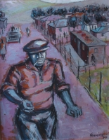Man on a township street by Sekoto, Gerard