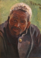 African man - Portrait of Man by Oerder, Frans David