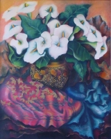 Still Life with Arum Lilies by Hattingh-Bruinette, Emce