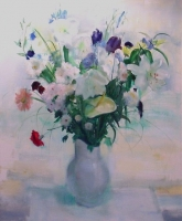 Still life - flowers in a vase by Serneels, Clement