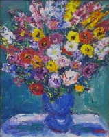 Bouquet in vase by Batha, Gerhard