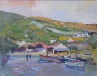 Boats at low tide by Boyley, Errol Stephen