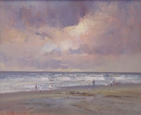 Seascape with children by Tugwell, Chris