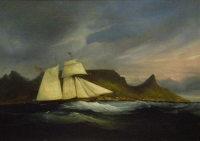 Clipper in Table Bay by Baines, Thomas