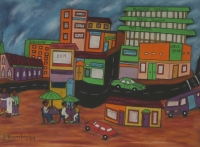Town scene by Bambo, Lucas