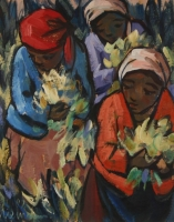 Flower pickers by Niemann, Hennie