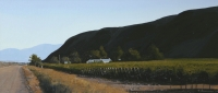 Vinyards, mountains and road by Bonney, Peter