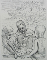 Untitled 3 boys by Coetzee, Cyril