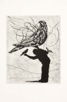 Magic Flute - Man and Bird by Kentridge, William