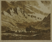 Before the storm, Woreester mountains by de Jongh, Tinus (Marthinus Johannes)