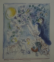 Chasing the blue bird by Chagall, Marc
