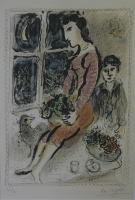Le corsage violet [The purple bodice] by Chagall, Marc