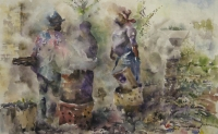 3 People walking and carrying things by Buthelezi, Mbongeni Richman