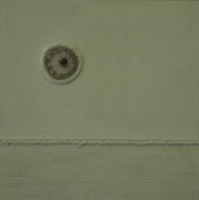 White background with beaded circle by Kotze, Karen