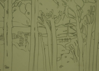 Sketch of trees by Relly, Tamsin