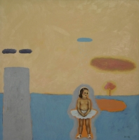 Girl with cloud in background by Hanekom, Sandra
