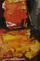 Abstract - orange face by Moutlou, Pat