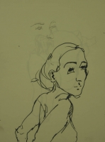 Sketch of girl by Relly, Tamsin