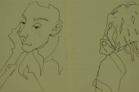 2 sketches - face & black of head by Relly, Tamsin