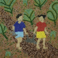 2 children walking in the forest by Ngwenya, Nomawabo Cynthia