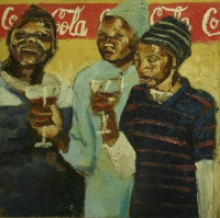 3 ladies drinking wine by Dyaloyi, Ricky Ayanda