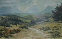 Mountains & sky by Erskine, Phillip