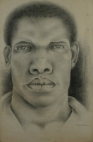 Black mans face by Buthelezi, Mbongeni Richman