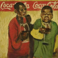2 people drinking wine by Dyaloyi, Ricky Ayanda