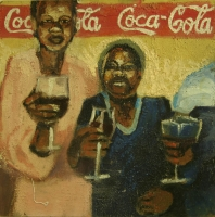 3 people drinking wine by Dyaloyi, Ricky Ayanda