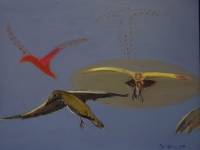 Birds in flight by Hyslop, Diana