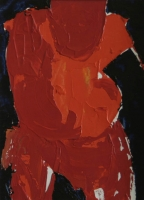 Red figure bending forward by Moutlou, Pat
