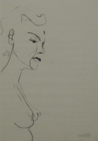 Profile of womans face & bare chest by Relly, Tamsin